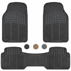 Car Floor Mats for All Weather Rubber Heavy Duty Protection Auto SUV Van 3 PCS