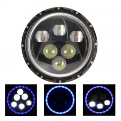 7 Inch Round LED Headlight for Trucks 60W 6000K 10W High Power LED 6Leds 4000LM 12V IP65 High Low Beam
