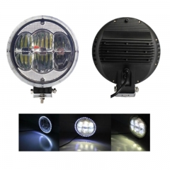 9 Inch Round LED Headlight for Trucks 90W 6000K 15W High Power LED 6Leds 4000LM 12V IP65 High Low Beam