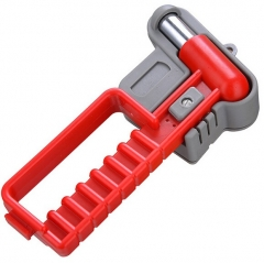 Bus Safety Hammer with Alarm Emergency Escape Tool Class Carbon Steel Window Punch Breaker with Long Handle